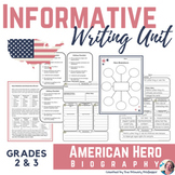 American Hero Biography: Informative Writing Unit for 2nd