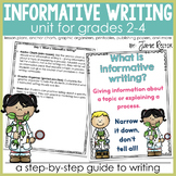 Informative Writing Unit for Grades 2-4