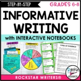Informative Writing Unit for Middle School Informative Essay Writing Grades 6-8