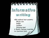 Informative Writing Wild Animal Set with Rubrics