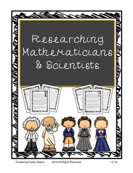 Informative Writing and Research Mathematicians and Scientists