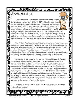 Informative Writing and Research Archimedes
