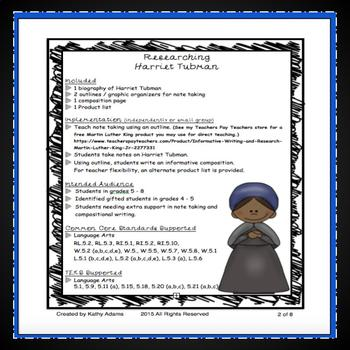Informative Writing and Research Harriet Tubman