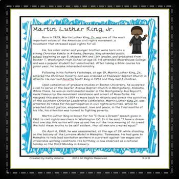 Informative Writing and Research Martin Luther King, Jr.