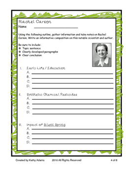 Informative Writing and Research Rachel Carson