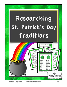 Informative Writing and Research St. Patrick's Day Traditions