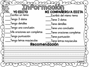 Informative Writing in Spanish/ Expository in Spanish