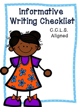 Informative Writing Checklist FREEBIE