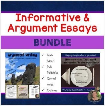 Informative and Argumentative Essay Writing BUNDLE!