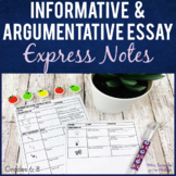 Informative and Argumentative Essay Writing Guided Notes