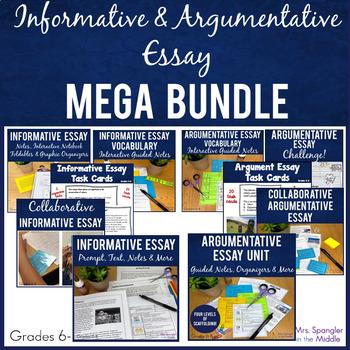 Informative and Argumentative Essays MEGA BUNDLE
