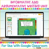 Informative and Argumentative Writing Unit for Use With Go