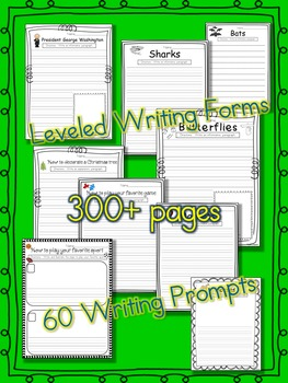 Informative and Explanatory Paragraph Writing Unit All Year Long K-3 300+ pages