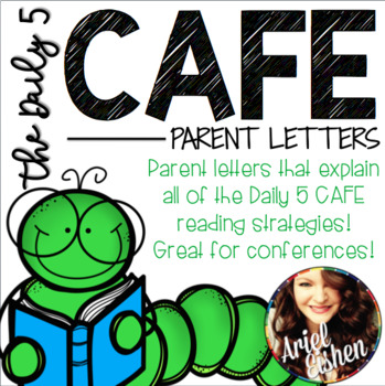 Informative parent letters for Daily 5 CAFE strands