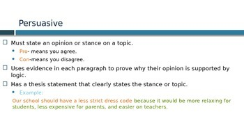 Informative vs. Persuasive