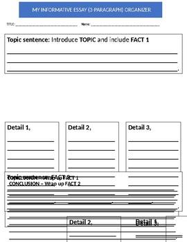 Informative Paragraph Graphic Organizer