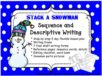 Sequential Narrative Writing: Stack a Snowman