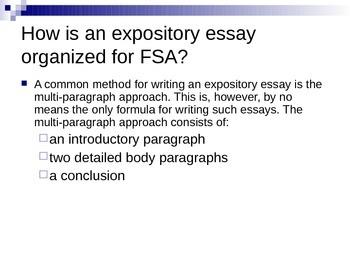 Informative/Explanatory Essay Lesson (FSA)