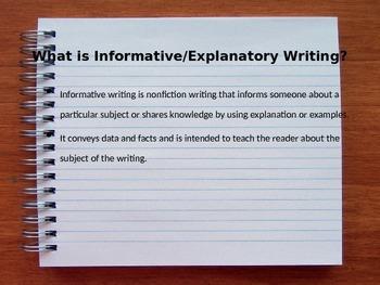 Informative/Explanatory Power Point
