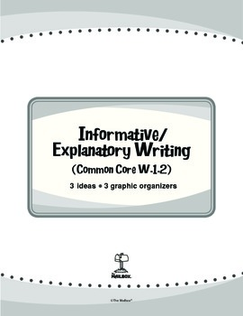 Informative/Explanatory Writing (Common Core W.1.2)