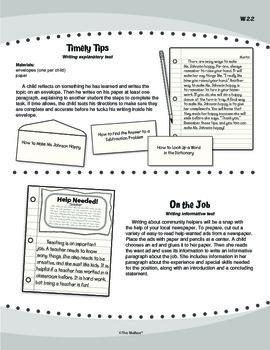 Informative/Explanatory Writing (Common Core W.2.2)