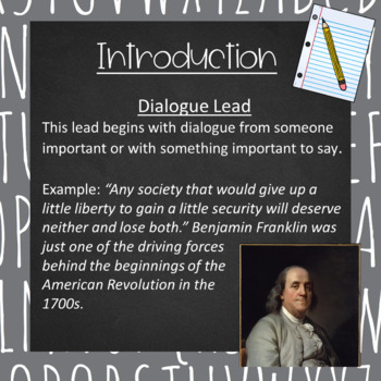 Informative/Explanatory Writing- Introductions