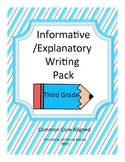 Informative/Explanatory Writing Pack Grade 3