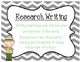 Informative/Explanatory Writing Packet-Research Rangers!