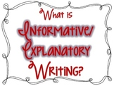 Informative/Explanatory Writing Posters