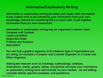 Informative/Explanatory Writing Prompts