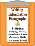 Paragraph Writing Step-by-Step Guide with Models All Subjects