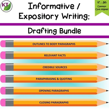 Informative_Explanatory Writing - Drafting Lessons