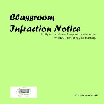 Infraction Notice