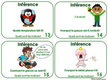 Inférences (Ensemble B) 24 cartes d'inférences