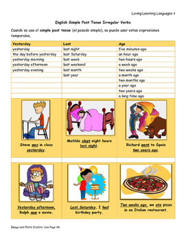 Inglés Para Hispanoblantes English Past Tense Irregular Verbs
