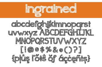 Ingrained Font for Commercial Use