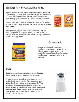 Ingredients & Their Function for Culinary