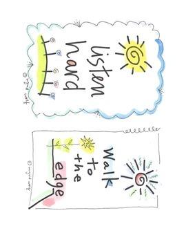 Ingrid's Art inspirational mini poster set