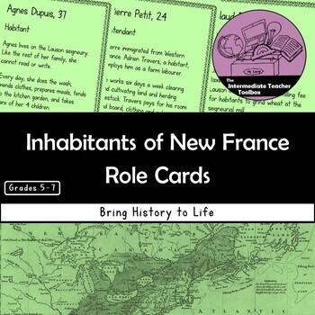 Inhabitants of New France Role Cards
