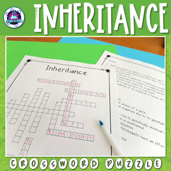 Inheritance Crossword Puzzle