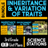Inheritance and Variation of Traits 5E Unit AND Science Station BUNDLE 3rd Grade