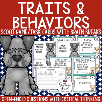 Inherited Traits & Learned Behaviors Scoot Game/Task Cards
