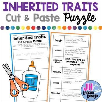 Inherited Traits Worksheets Teachers Pay Teachers