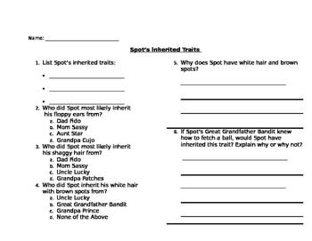 Inherited Traits Family Tree