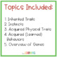Inherited Traits and Learned Behaviors Unit