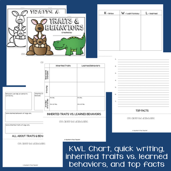 Inherited Traits & Learned Behaviors Interactive Flip Book