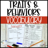 Traits & Learned Behaviors Fun Interactive Vocabulary Dice
