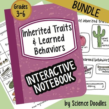 Doodle Notes - Inherited Traits & Learned Behaviors INB BUNDLE