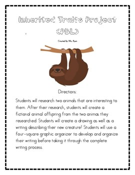 Inherited Traits Science, Writing and Research Project. 2nd-5th Grade