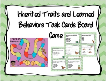Inherited Traits Task Card Board Game